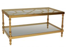 Brass Fretwork Cocktail Table
