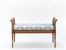 Directoire Caned Window Seat