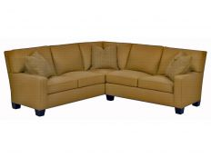 Transitional Track Arm Sectional Sofa